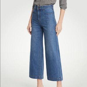 Ann Taylor jeans the wide leg